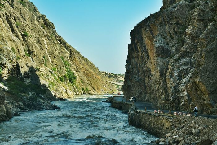 Panjsher Valley Water Clear Sky Mountain Tranquil Scene Scenics Rock - Object Beauty In Nature Tourism Nature Tranquility Blue Outdoors Day Non-urban Scene Rock Formation Rocky Mountains River Flowing Sky Waterfront Panjshir Valley Panjsher