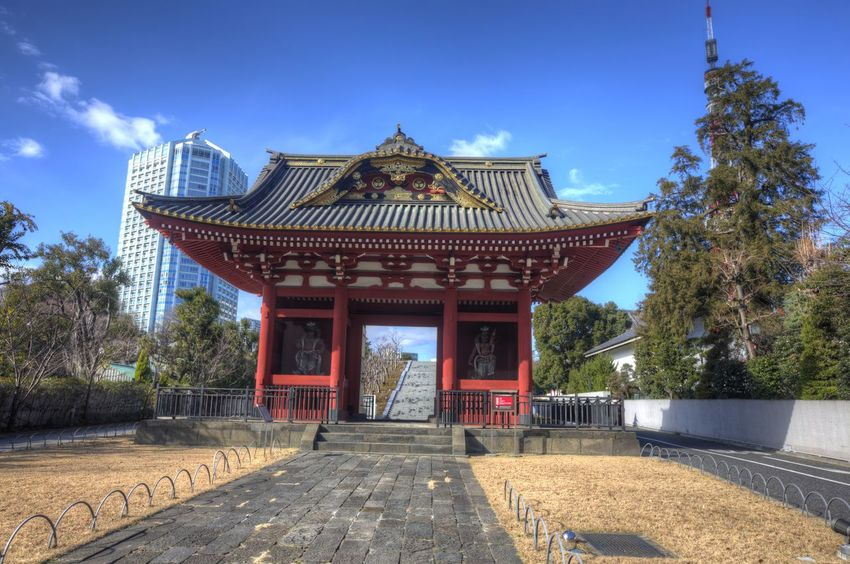 Gate Of Daitokuin Gate Of Datokuin Mausoleum HDR Japanese Temple Pagoda Architecture Asian Temple Building Exterior Built Structure Daitokuin Day Mausoleum No People Outdoors Place Of Worship Religion Sky Temple Travel Destinations Tree