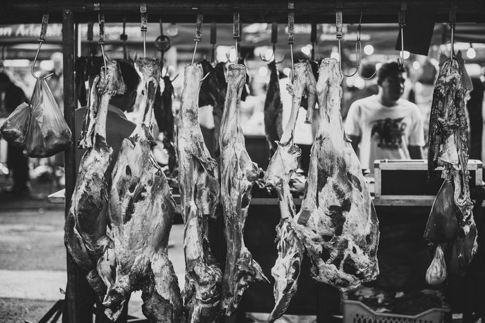 Shades Of Grey Farmers Market Meat! Meat! Meat! Meat Overload Beef Street Photography Streetphotography Black And White Photography