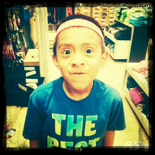 With my brother at the mall!!