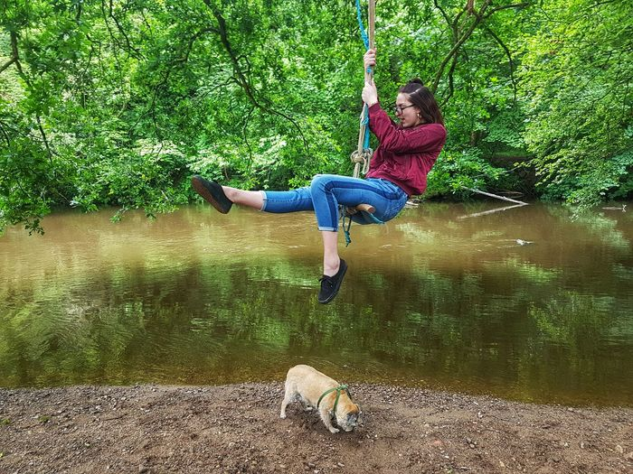 Rope Swing Water Full Length Childhood Swing Fun Child Slide - Play Equipment Monkey Bars Jungle Gym Slide Playground Outdoor Play Equipment Rope Park - Man Made Space Paragliding Sioux Falls Merry-go-round Coiled Spring Rappelling Climbing Equipment Children Clothespin Nuremberg