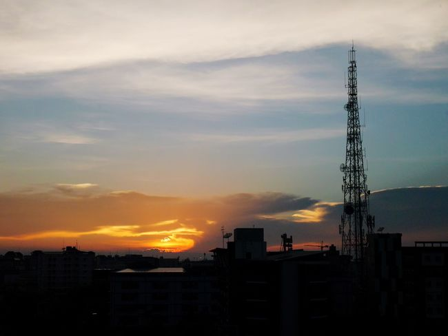 Sunset Sky Architecture Cloud - Sky Outdoors Silhouette Nature Tower Day