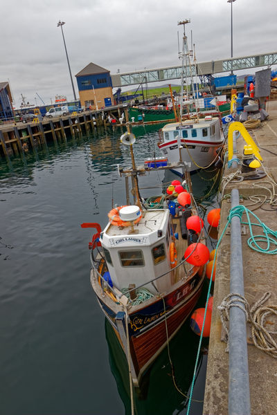 Stromness Harbour, Orkney Island, Scotland Bow Celtic Cruise Ship Fishing Net Harbor Harbour Map Scotland TOWNSCAPE Boat Brexit Fishing Industry Haddock Highlands Of Scotland Shore Tourism Tourism Destination Travel Destinations Trawler Vivid International Wooden
