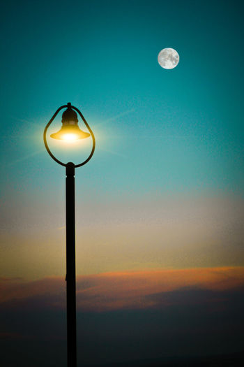 Light with moon