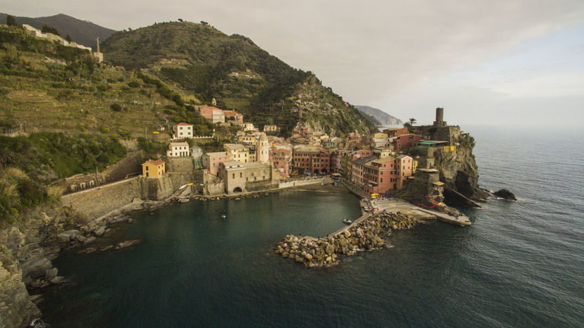 Cinque Terre Drone  Architecture Built Structure Cinque Terre Liguria Coast Day Drone Photography High Angle View Italy Nature Outdoors