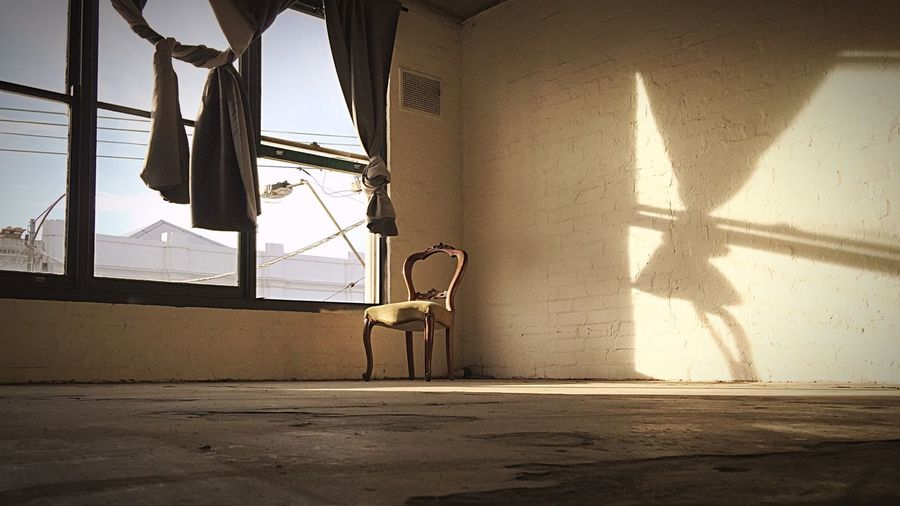 Still Life Chair Sunlight Architecture Built Structure Nature Shadow Indoors  No People Day Window Wall - Building Feature Sky Building Sunbeam Focus On Shadow
