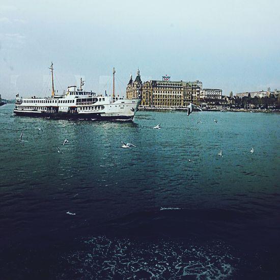 Kadıköy Sea , Haydarpaşa , Karaköy Steamship Boat Istanbul Turkey Istanbulcity