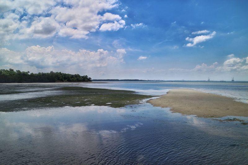 Reflection Beauty In Nature Landscape Nature Nparks Nparksbuzz Pulau Ubin Scenics Sea Sky Tranquility Water