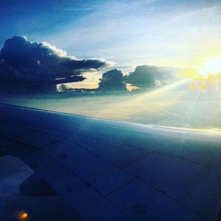 Sky Plane Light Mexico Cdmx Sun