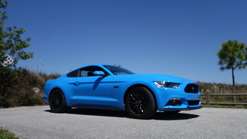Mustang Blue Mustang GT Car Blue Transportation Road Road Trip Land Vehicle No People Day Outdoors Tree Sky Clear Sky
