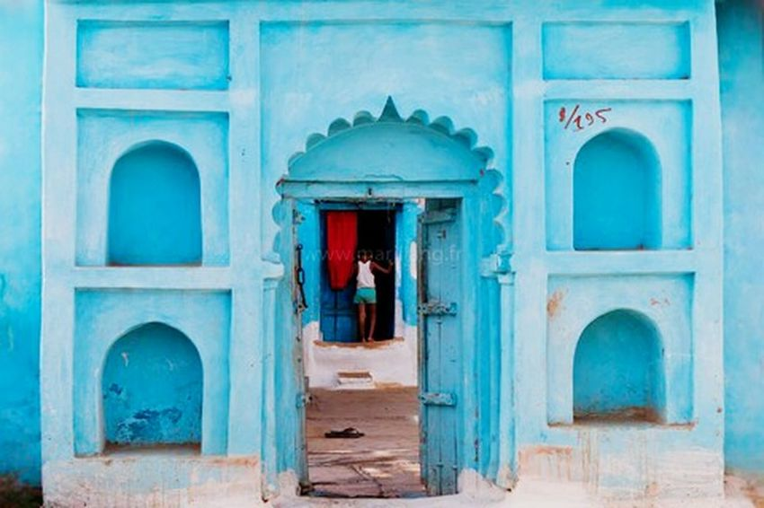 Home Home Sweet Home India Blue Blue Wave Blue House House Indian Traditional Orchha Madhya Pradesh Marji Lang Photography Scene Composition Home