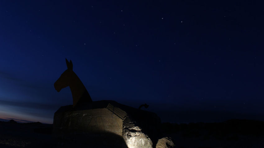 Dänemark Blåvand Night Sky Military Star - Space Sand No People Outdoors Astrology Sign Nature Canon EOS700D