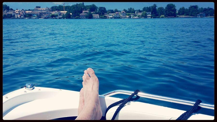 Hanging Out Relaxing Enjoying Life Blue