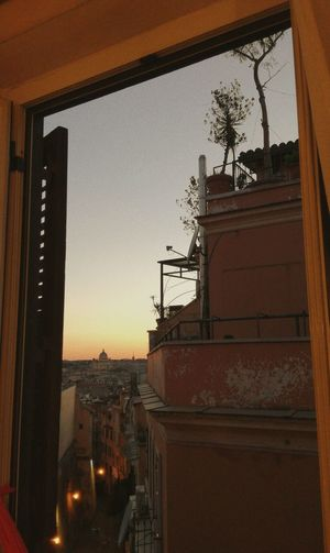 In a room in Rome. Architecture Building Exterior Built Structure Business Finance And Industry Sky Sunset Outdoors No People City Cityscape Day Art, Drawing, Creativity Loveart Tumblr Art Cool Relaxing Hello World Streetphotography Love Picture Taking Photos Beautiful Rome Rome Italy🇮🇹