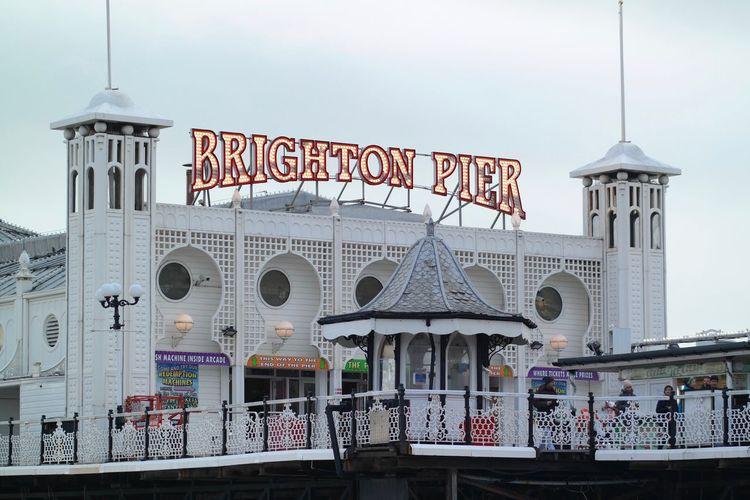 Brighton Pier Brighton Pier UK Architecture Building Exterior Built Structure Day History Outdoors Sky Text Tourism Travel Destinations