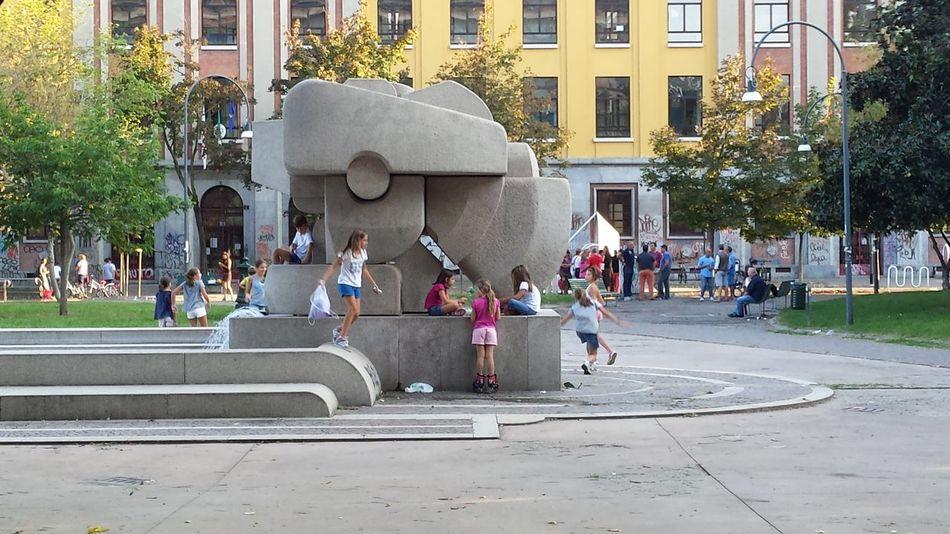 Saturday, Children Enjoing Life . In Milano Everyday Joy