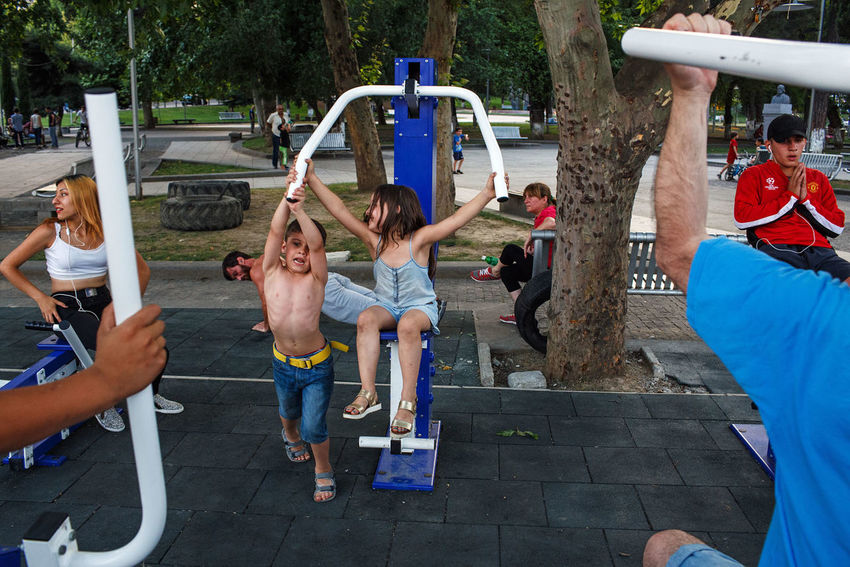 Tbilisi, Georgia, 2016. Georgia Tbilisi City Park Fitness Gym Outdoors Streetphotography Street Photography People