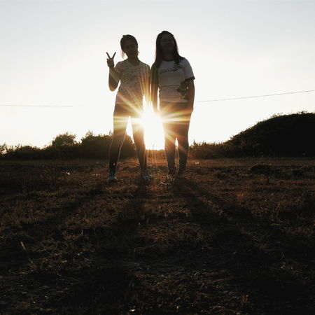 Eyeem Philippines Silhouettes Sunset Sun Flares Women The Essence Of Summer