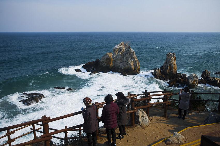 Cheuam Beach Neungpadae Chotdaebawi Samcheok Winter Sea South Korea Korea Seaside Coast