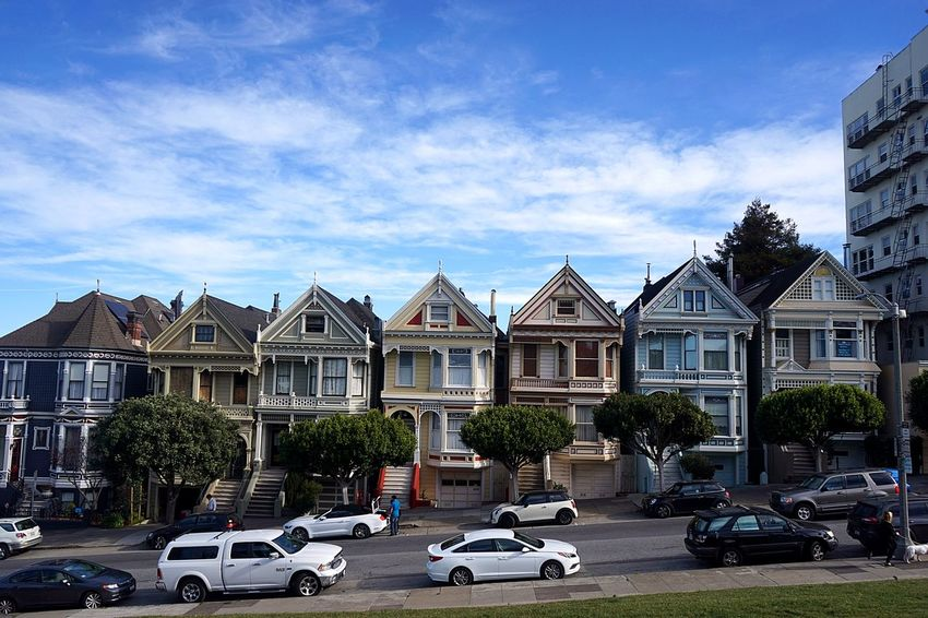 Architecture Golden Gate Bridge Painted Ladies San Francisco San Francisco United States Heritage