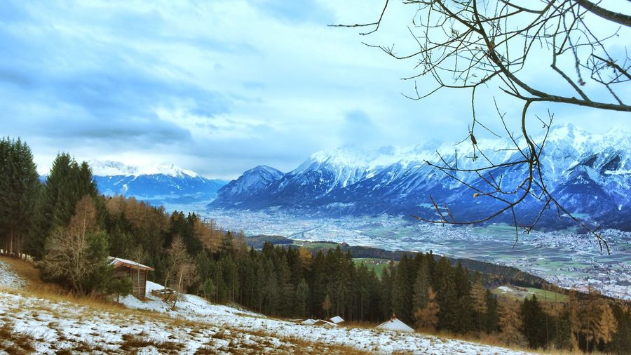 The Mountains surrounding Hall In Tirol for Fotostrasse