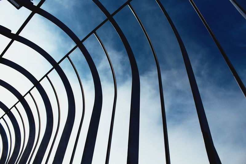Low Angle View Sky Pattern No People Cloud - Sky Fence Boundary Built Structure Architecture Close-up Design