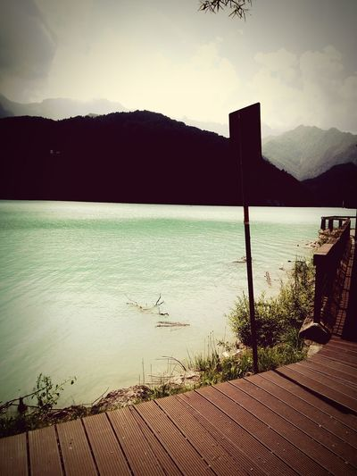 Lake Lago Barcis Lake, Italy Water Sky Cloud - Sky Mountain Range