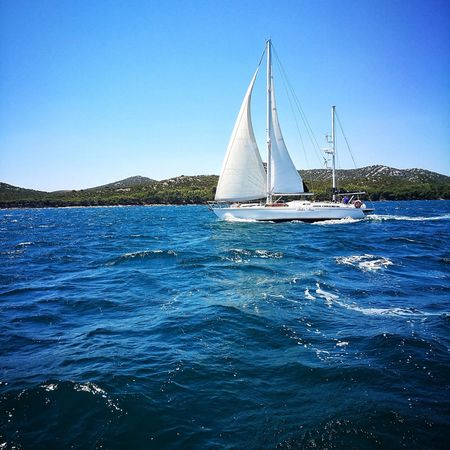 Sailing Sailing Ship Sailboat Nautical Vessel Blue Yachting Water Yacht Summer EyeEm Selects EyeEmNewHere Breathing Space Investing In Quality Of Life The Week On EyeEm Your Ticket To Europe Second Acts Be. Ready. An Eye For Travel