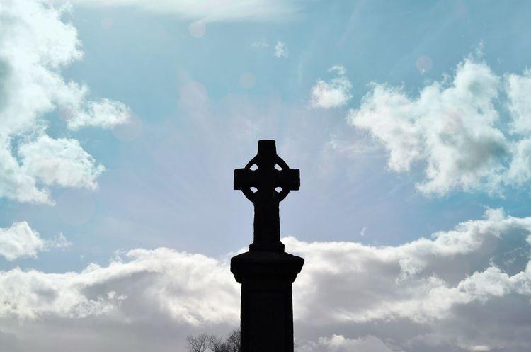 Mystic Mystical Cross Sky Cloud - Sky Sunlight Celtic Cross Revelation Idyllic Miracles Armageddon Hanging Out Hello World Street Photography