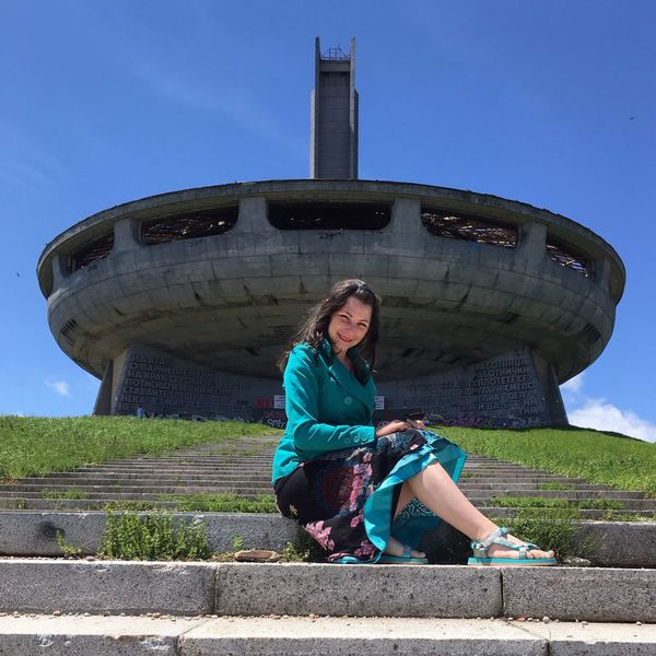 The Portraitist - 2017 EyeEm Awards Close-up One Person Full Length Looking At Camera Portrait Outdoors Front View Smiling Built Structure Beautiful Woman Sky Low Angle View Buzludzha Bulgaria