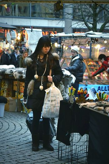 Open-air Market Marketplace Market Place Market Wool Wool Hat Hat Gloves Phonecase Phone Case Case Luggage Woman Humans Human Man Lights People Street Photography Streetphotography Street City Stockholm Sweden First Eyeem Photo