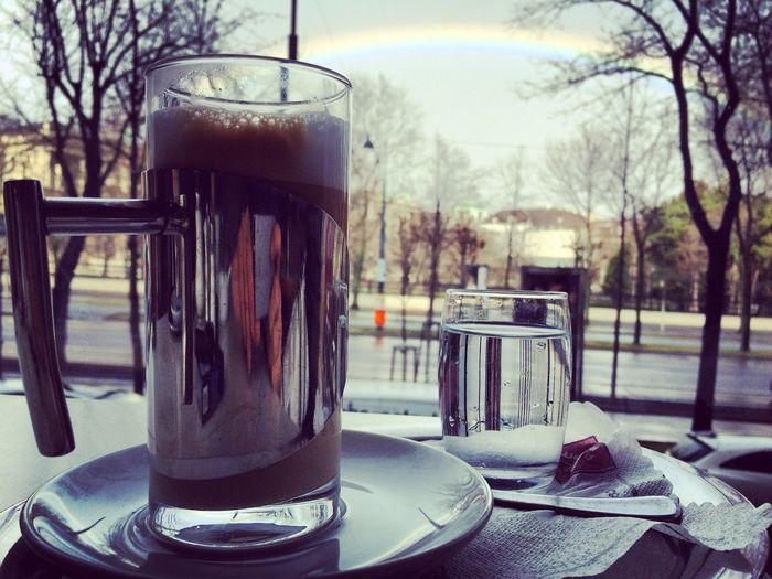 Coffee Wien Rainbow Hello World First Eyeem Photo Latte IPhoneography