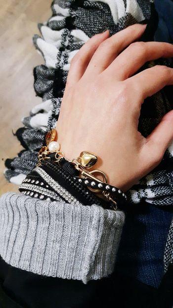 Jewellery Bracelet Hearts♡hearts Gold Fashion