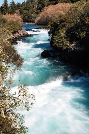 Nature Water Tree Beauty In Nature Tranquil Scene Scenics No People Day Tranquility Outdoors Growth Waterfall Sky Stream Wild Water Long Exposure Mountain River Canon River New Zealand Beauty New Zealand