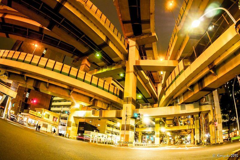箱崎ジャンクション Junction Nightphotography Streetphotography Olympus Om-d E-m10 Architecture Highway