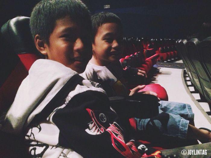 Movie date with my nephews. Xmen DaysOfFuturePast