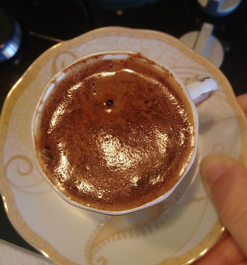 Food And Drink Close-up Indoors  Food No People Ready-to-eat Freshness Comfort Food Day Turkey Hello World GoodNight ❤✌ Goodnight Türkiye Real People Desserts Turkish Coffee Turkishcoffee Turkkahvesicandir