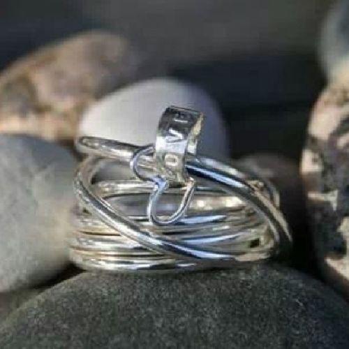 Handgjord silverring med små berlocker. Silversmycken Silver  Love Ring design jewelry jewelrydesign nillidesign sterlingsilver