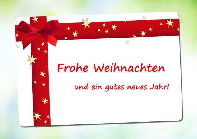 Frohe Weihnachten und ein gutes neues Jahr Anhänger Frohe Weihnachten Geschenk Geschenkanhänger Golden Labels Sterne  Weihnachten Bokeh Etikett Festlich Festlicher Frohe Frohes Frohes Fest Frohes Neues Jahr Frohesfest Frohesneuesjahr Gutschein Label Rot Rote Rote Schleife Schleife Weihnachtlich