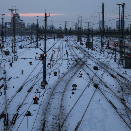 Wintertime Shades Of Winter Traffic Axvo Beauty In Nature Cold Temperature Day Frozen High Angle View Land Vehicle Mode Of Transport Nature No People Outdoors Pole Rail Transportation Railway Railway Station Sky Snow Traffic Lights Transportation Water Weather Winter