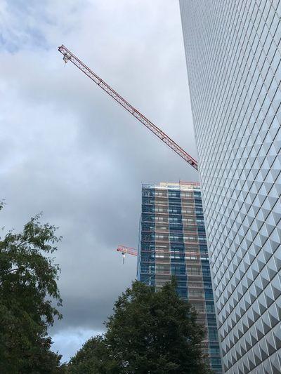 Crane - Construction Machinery Construction Site Incomplete Tall - High Hamburg Esplanade Becken