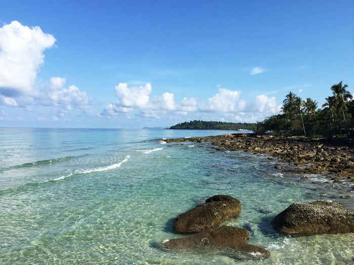 Blue Sky Blue Sea Sea And Sky Sea Rock Clear Sky Clear Water Summer Holidays Beautiful