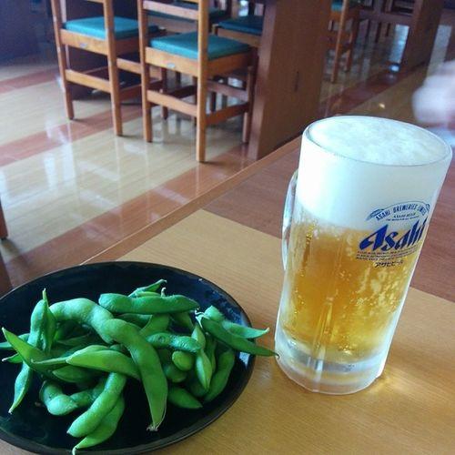 風呂ってサッパリ。ビールと枝豆♪ 昼酒倶楽部