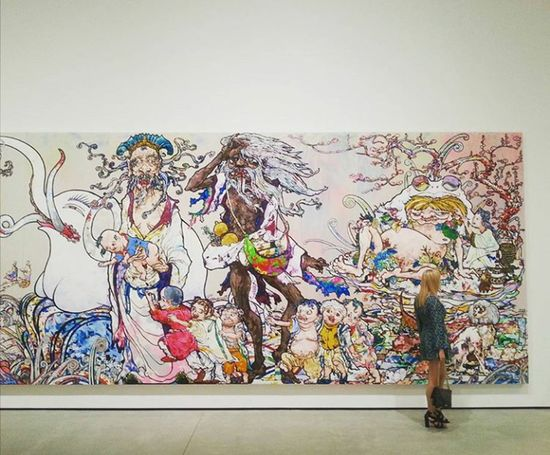 In The Land of the Dead Sitting on the Tall of the Rainbow The Broad Takashi Murakami Museums