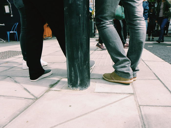 Low Section Human Leg Human Body Part People Standing Lifestyles Adult Outdoors City Day Lifestyle London People Talking Friends City Life Legs Group Of People EyeEm LOST IN London Paviments