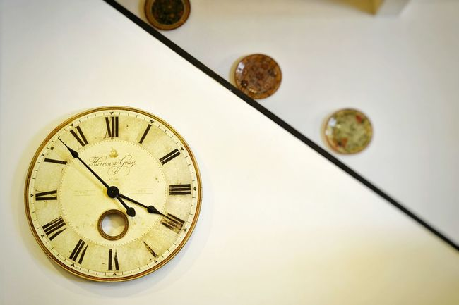 Clock on the wall. Madam Tan Classicc Day Time Clock Minute Hand Clock Face Old-fashioned Indoors  Close-up No People Watch Roman Numeral Gold Hour Hand First Eyeem Photo