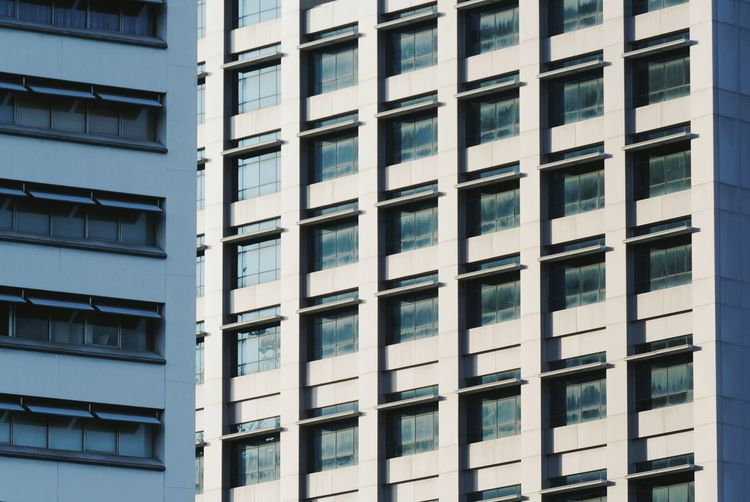 Building Exterior Built Structure Architecture Window City Building No People Day Full Frame Residential District Office Pattern Apartment Nature Modern Outdoors Repetition Backgrounds Low Angle View Glass - Material Office Building Exterior