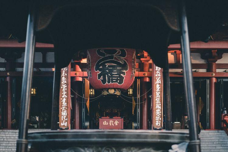 Sensoji // IG: @taromoberly Architecture Built Structure No People Travel Building Japan Japan Photography Travel Photography Japanese Culture Temple Culture Temple Architecture Tradition Asakusa Sensoji Temple  Sensoji Morning Light Lantern