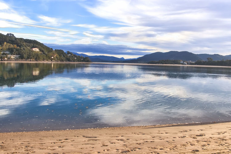 Biosphere reserve Urdaibai Marsh Biosphere Reserve Sea And Sky Life Is A Beach Sky And Clouds Seascape Seashore Water Surface Reflected Glory Water Reflections Estuary Ecosystem  SPAIN Landscape Nature Photography Sun_collection Landscapes With WhiteWall