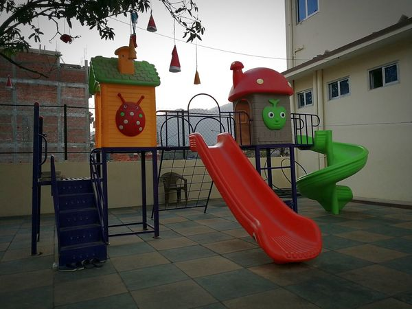 Playground Equipment Playground Playground Fun With The Kids Playground Fun Playgrounds Playground Structure Playground Slide Playground For Kids School Red No People Outdoors Day